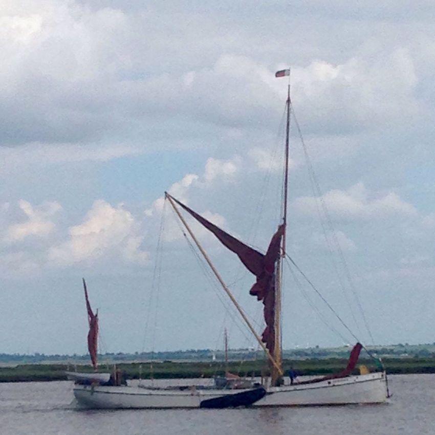 Maldon, Essex Thames Sailing Barge Mast river Estuary sky