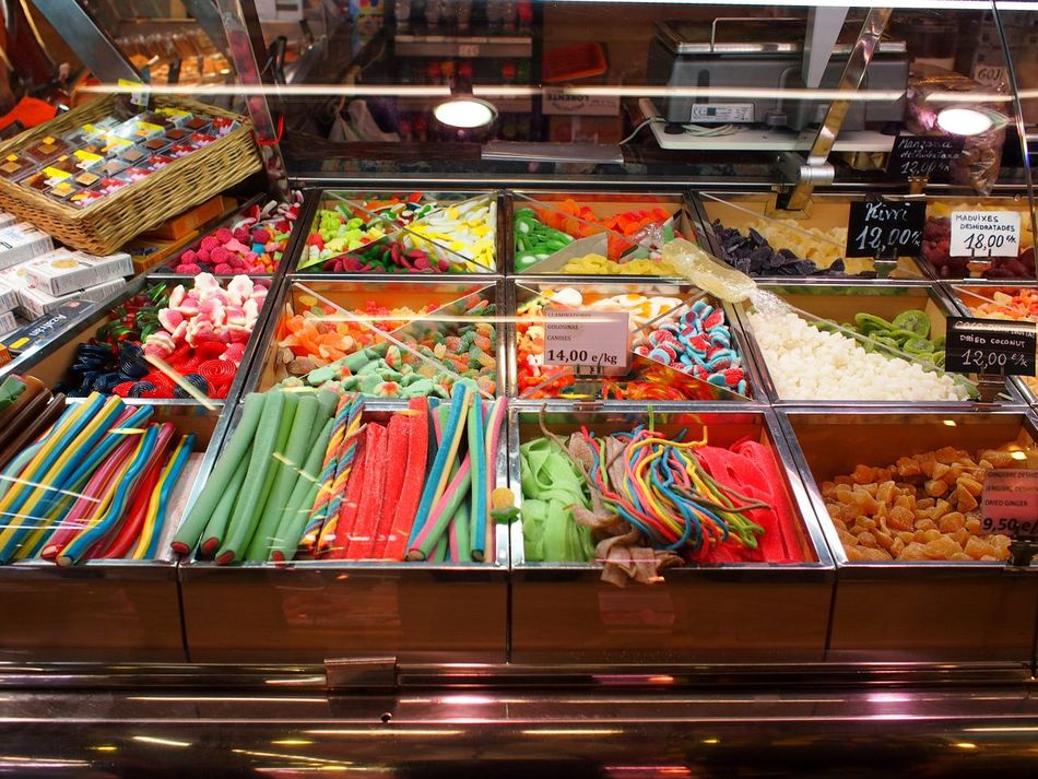 Going To Market Market Mercado SPAIN Barcelona Barcelona, Spain Multi Colored Taking Photos Sweets Candy Candy Store
