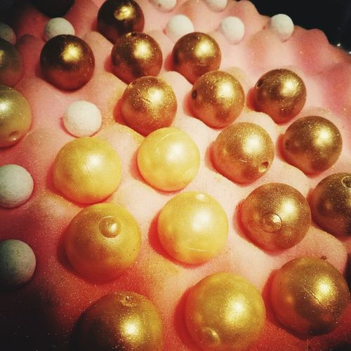 No People Full Frame Large Group Of Objects Close-up Gold Chocolate Gold Truffles Gold Sparkle
