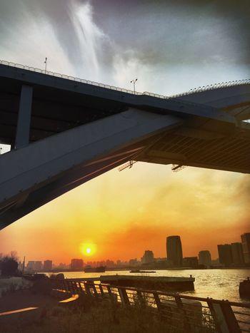 Sunset Architecture IPhoneography Bridge