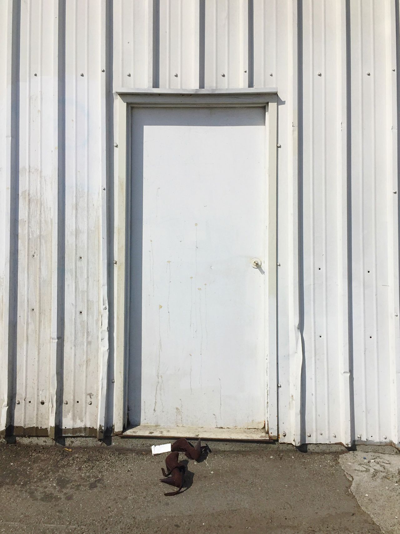 High Heels Hooker Shoes White Door Metal Wall Warehouse Open Edit Bayview Discarded