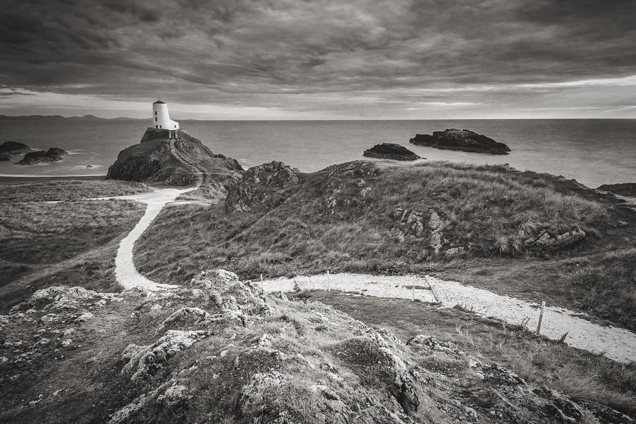 Beacon Sea Horizon Over Water Nature Water Scenics No People Tranquility Beach Outdoors Beauty In Nature Sky Day Cloud - Sky Landscape The Great Outdoors - 2017 EyeEm Awards Wales Anglesey Llanddwyn Island