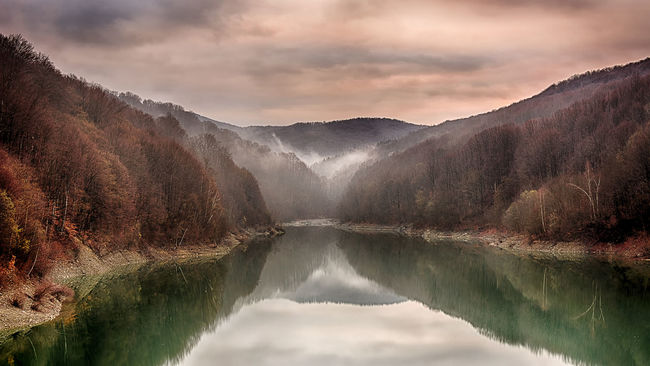 Paltinul Beauty In Nature Cloud - Sky Cloudy HDR Hdr_Collection Idyllic Lake Landscape Landscape_Collection Landscape_photography Majestic Mountain Mountain Range Nature Non-urban Scene Reflection River Scenics Sky Standing Water Tranquil Scene Tranquility Tree Water Waterfront