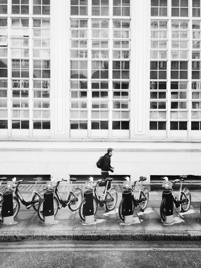 Running instead Architecture Blackandwhite Building Building Exterior Built Structure City City Life City Street Day IPhone IPhoneography Iphoneonly Iphonephotography Iphonesia Land Vehicle Lifestyles Mode Of Transport Monochrome Outdoors Parked Parking Showcase May Stationary VSCO Vscocam