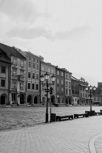 Poland Krakow Rynek Square Bw Blackandwhite B&w Photography
