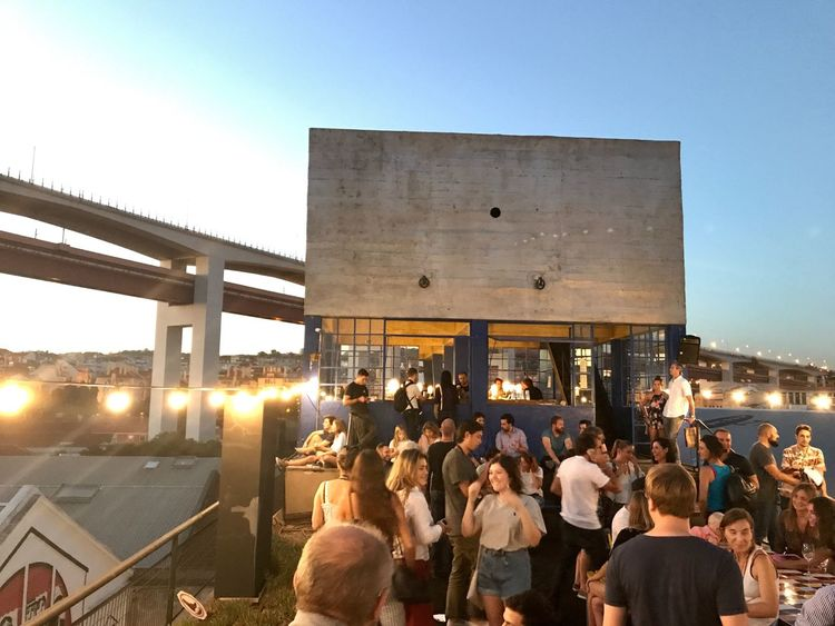 Lisbon Skybar Large Group Of People Architecture Built Structure Real People Lifestyles Leisure Activity Women Illuminated Men Crowd Outdoors Music Sky Building Exterior Clear Sky Night City Nature People Adult LxFactoy