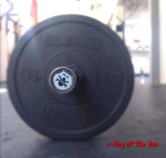 A Day At The Box Crossfit Working Hard