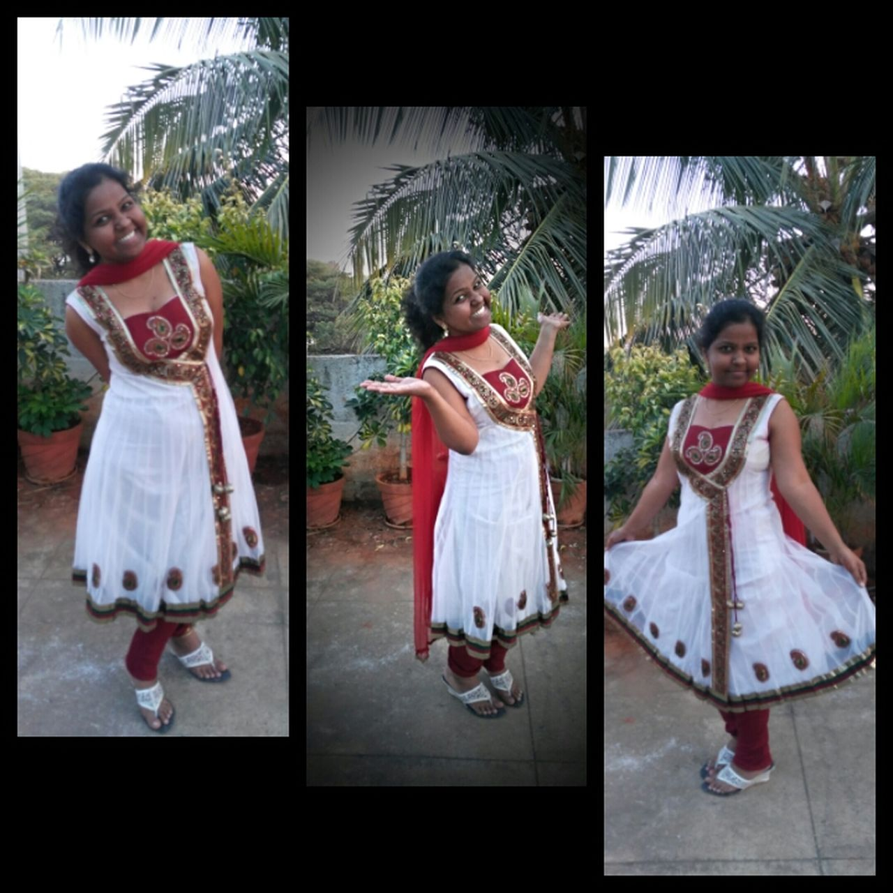 Smiling Females Performance White Color White Flowers White Dress Maroon Colour Differentme Poser ❤ Poseyy👌✌️ Love To Take Photos ❤ Loveself
