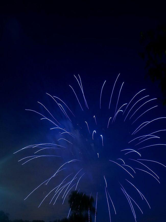 Obligatory Fireworks Shot Blue Fireworks Independence Day Cedar Rapids Iowa Holiday Fireworks USA Canman Show Studio