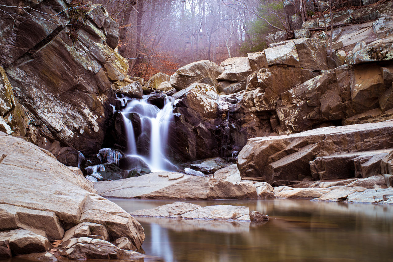 Autumn Autumn Colors Beauty In Nature Day Fall Fog Long Exposure Motion Nature No People Outdoors Rock - Object Rock Formation Scenics Tranquil Scene Tranquility Water Waterfall EyeEmNewHere