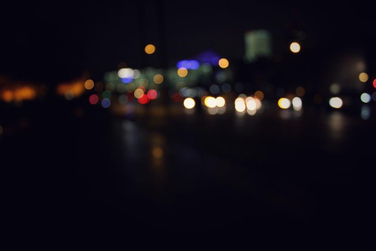 Defocused Image Of Illuminated City