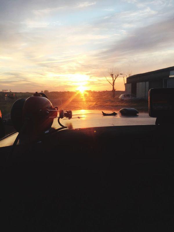 Sunset Breafing Before Flight Night Vfr