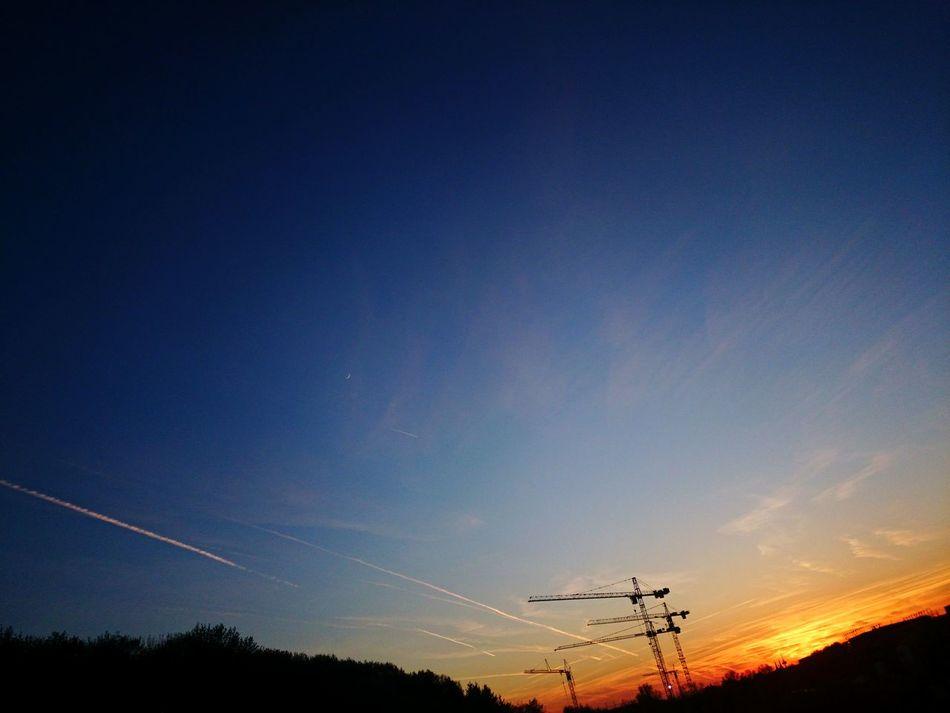 Skyporn Clouds Sunset Sunset_collection Evening Sky Orangeandblue Deep Blue Taking Photos EyeEm Nature Lover