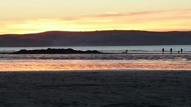 Surfspot beach cornwall sunset