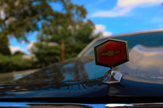 Blue Sky Chevy Classic Cars Clouds And Sky Depth Of Field El Camino Eye4photography  Focus On Foreground Green Green Green!  Old School Outdoors Selective Focus Sky Trees Vintage Cars