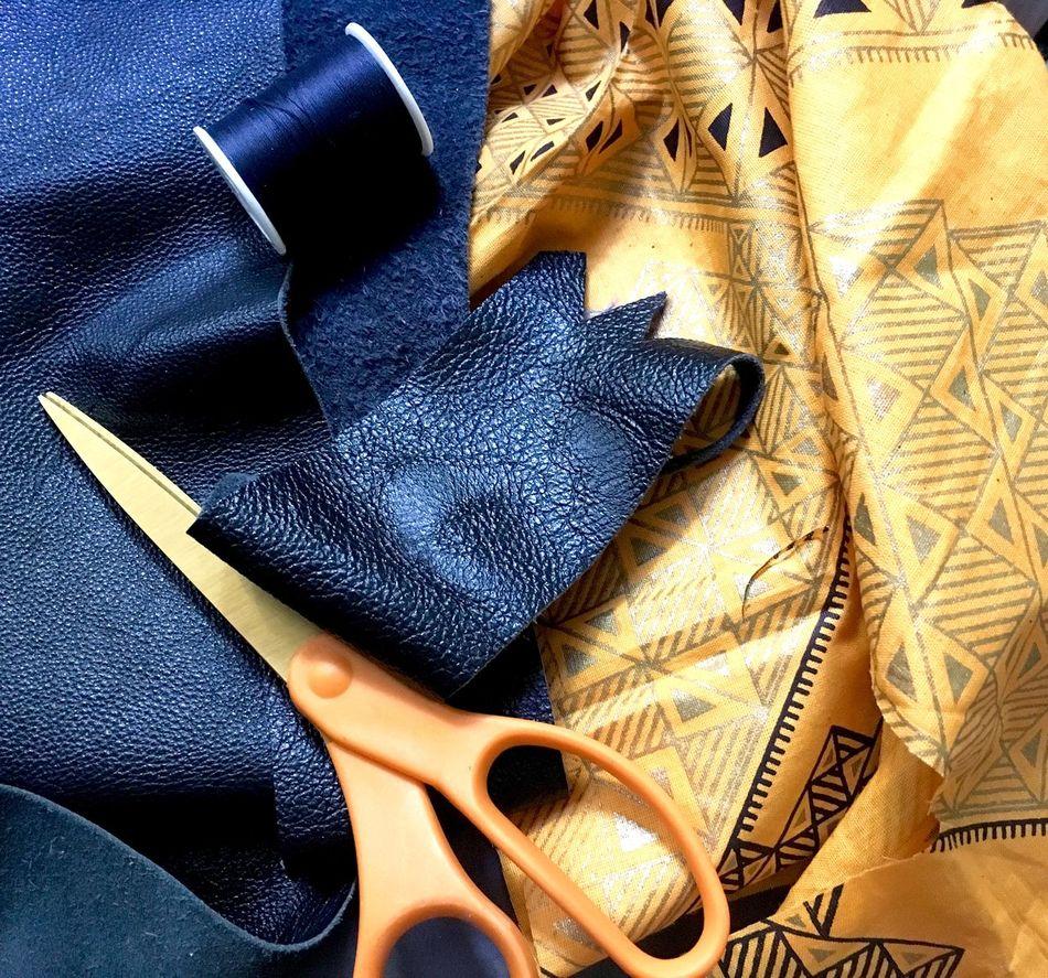 Fashion Design:Leather & Fabric Handmade Jewelrymaking Inthemaking Fabric Leather Threads Fashion Fashiondesign