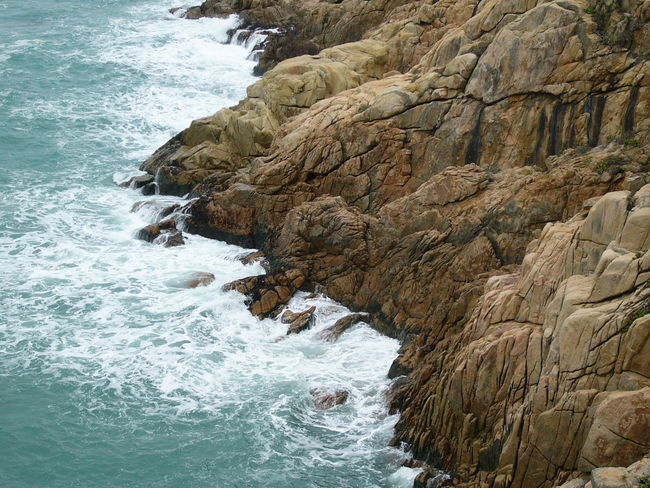 Cliff Day Hiking Hong Kong Mountain Nature No People Non-urban Scene Outdoors Rock - Object Rock Formation Sea Water Wave