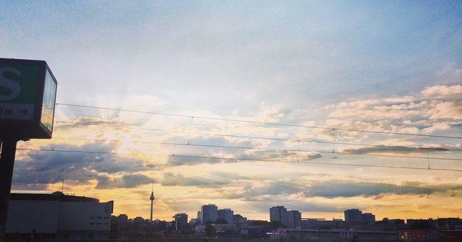 Sunset Berlin Warschauerbrücke Warschauer Straße Sun Travel