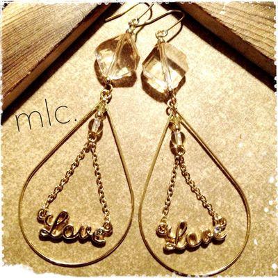 "mlc.handmade accessory""Love"" Handmade Handmade By Me Handmade Jewellery Mlc.handmade Accessory"