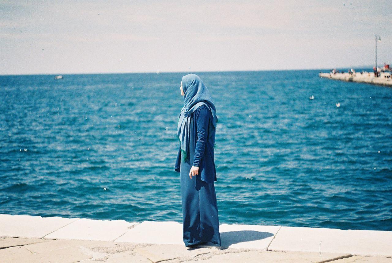 BlueIsTheWarmestColour Day Feelthesea Horizon Over Water Mermaid One Person Sea Water