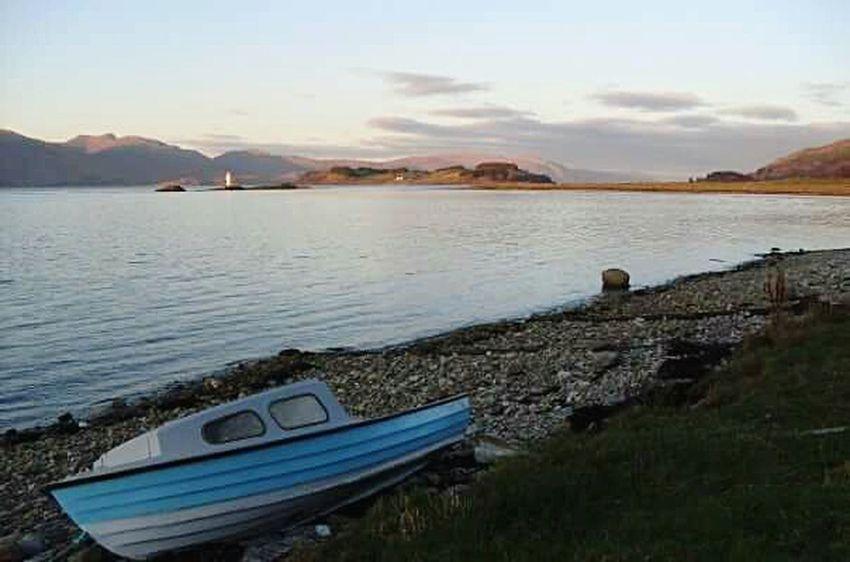 2009 November, Port Appin Scotland Nautical Vessel Mode Of Transport Sunset Port Appin