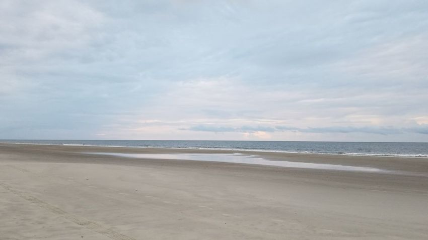 Plain Simple Beauty In Nature No Filter No Edit Sky Beach Sand Scenics Hilton Head Island, SC Hilton Head Island Hilton Head SC Ocean No People Neutral Colors Backgrounds Background Tranquility Landscape Water Cloud - Sky Blue Tranquil Scene Beauty In Nature
