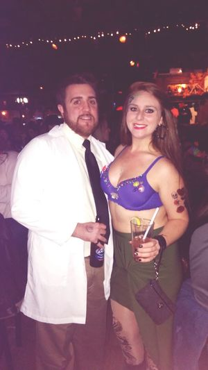 Halloween was a blast. So happy my man came to see me!!