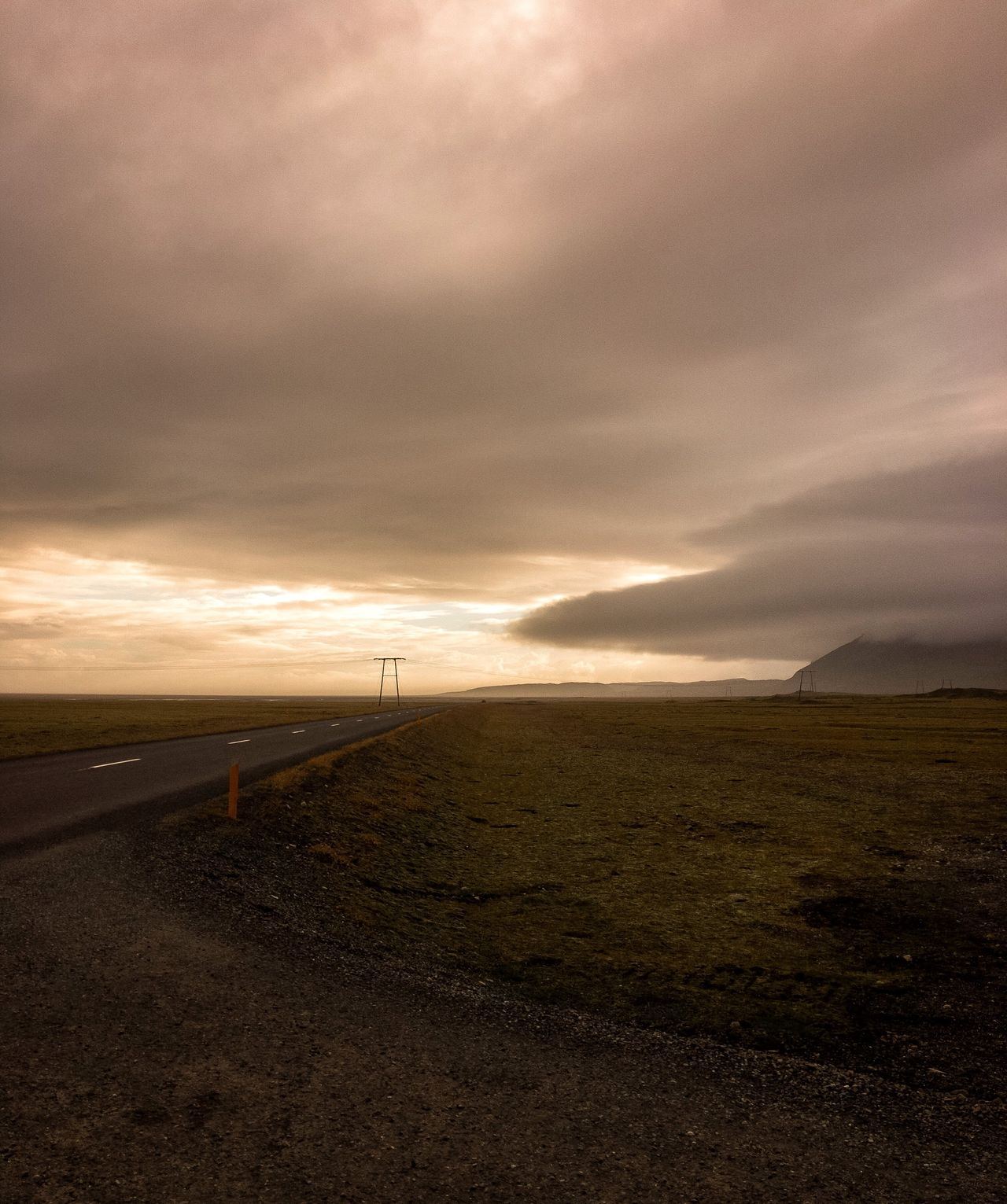 Iceland Iceland_collection Outdoors Sky Detail Alone Peaceful Electricity  Powerlines Landscape Electricity Pylon Nature Mountain Human Settlement Man Made Structure Highway Road