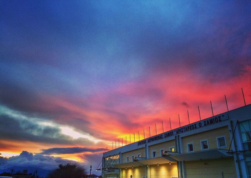 Dawn Airport Beautiful Morning Clouds Rebel Sky Colours Of Nature Colours New Day Dawn Sunrise Cloud - Sky Built Structure Sky Architecture Building Exterior Dramatic Sky Nature Beauty In Nature Scenics