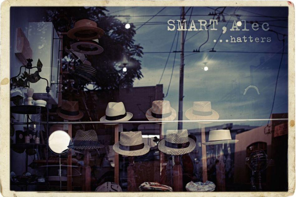 Hats Hat Shop Smart Alec Street Photography Shop Window Reflections Hats Hatters