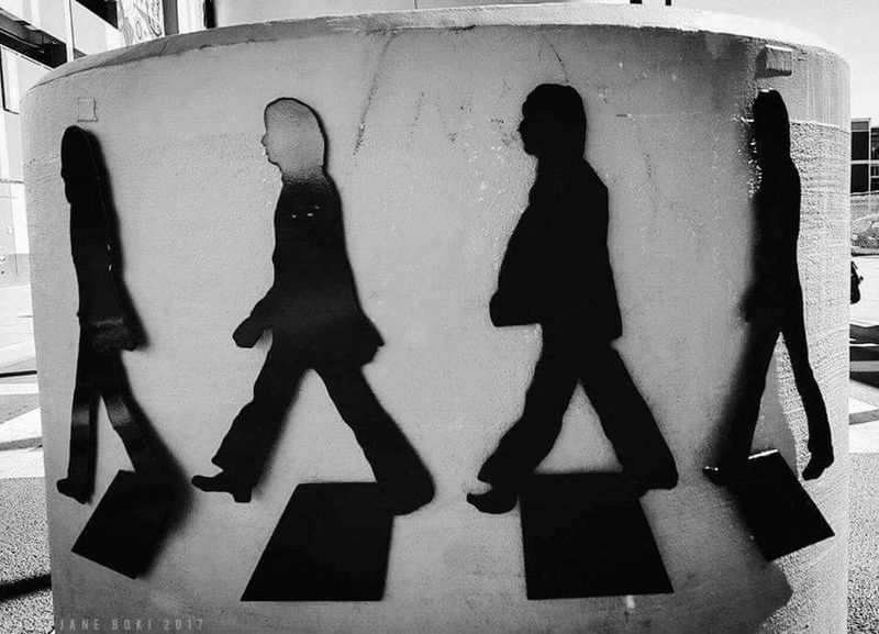 Silhouette Adult People Adults Only Togetherness Full Length Day Men Outdoors Only Men Blackandwhite Black And White Beatlesmania Beatles Las Vegas Fremont Black And White Friday