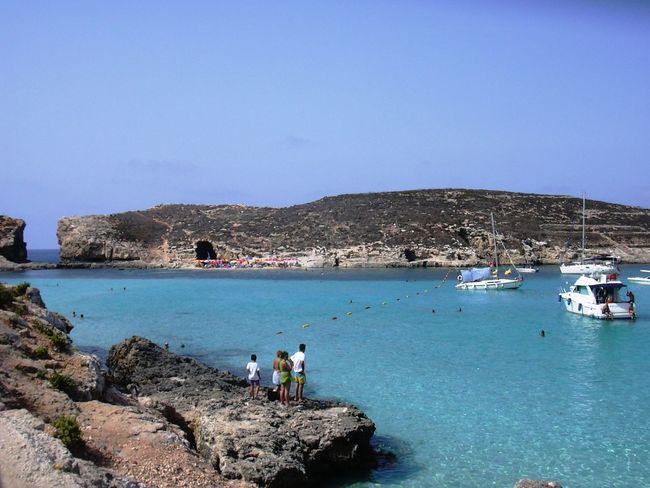 Boats Cominoisland Malta Sea Summer The Blue Lagoon, Comino