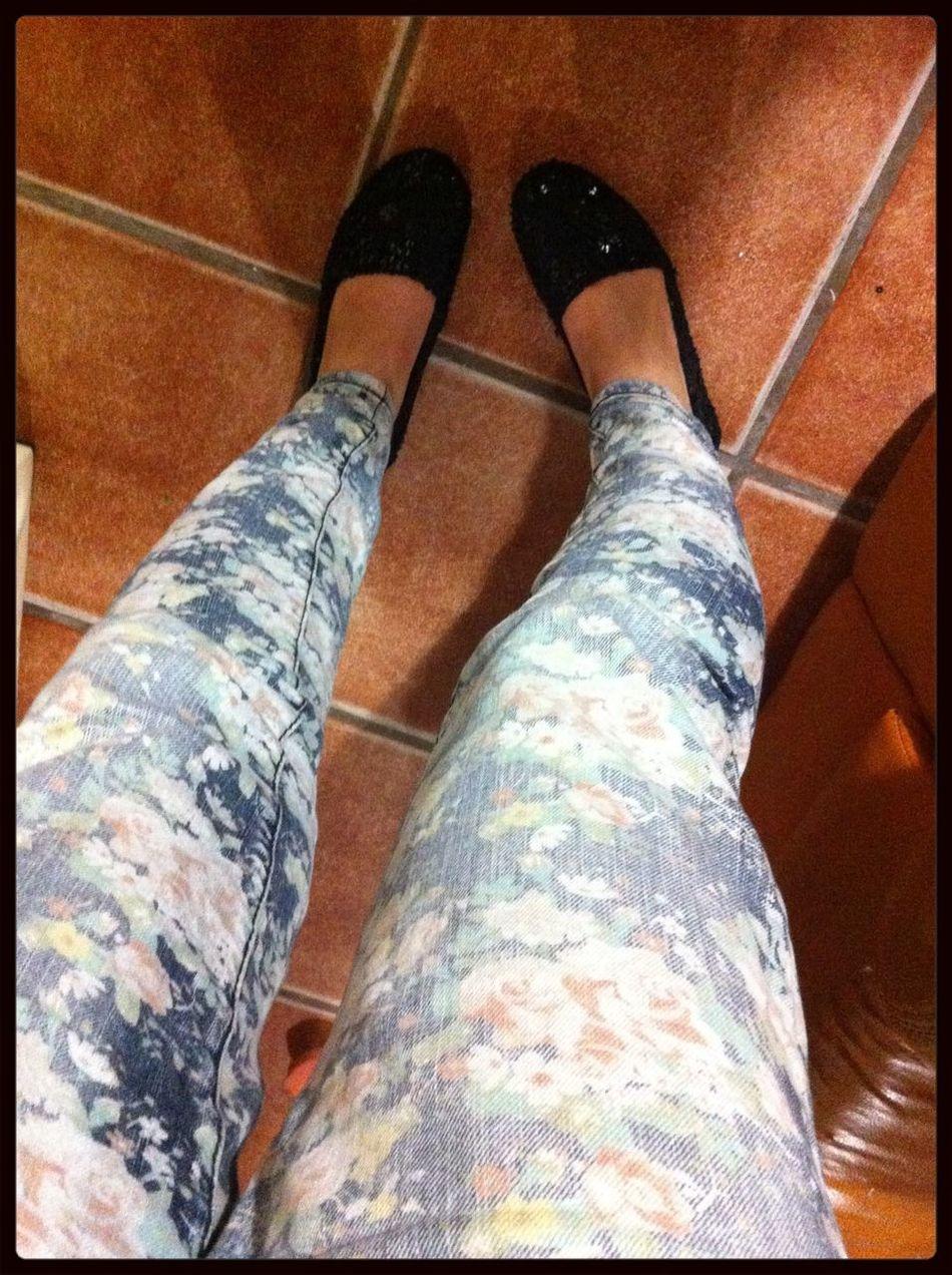 FlowerPrintJeans Flowers Trends