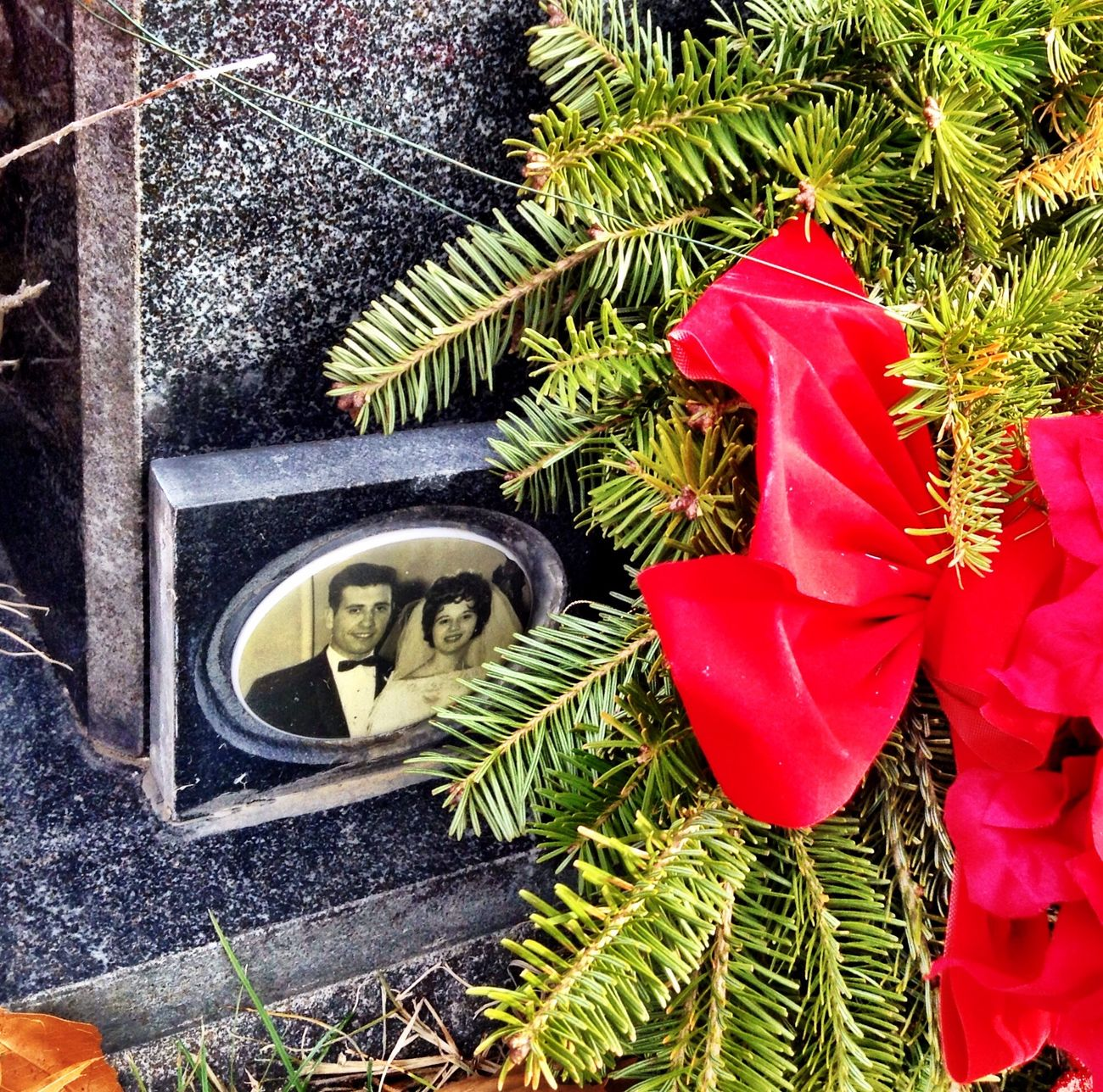 Closer shot of my Aunt Carol,Uncle Eugene photo on their headstone Paying My Respects Streamzoofamily Christmas Bronx, New York Live Near You Memories