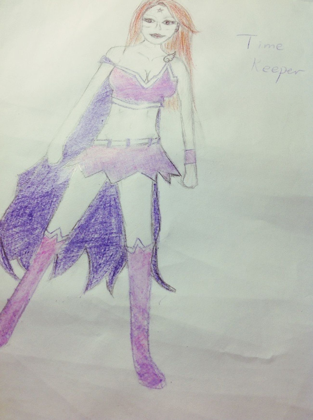 This girl called Corn is a Heroine called Time Keeper XD!! She can control time and fly and stuffsss...Lol Drawing HERO