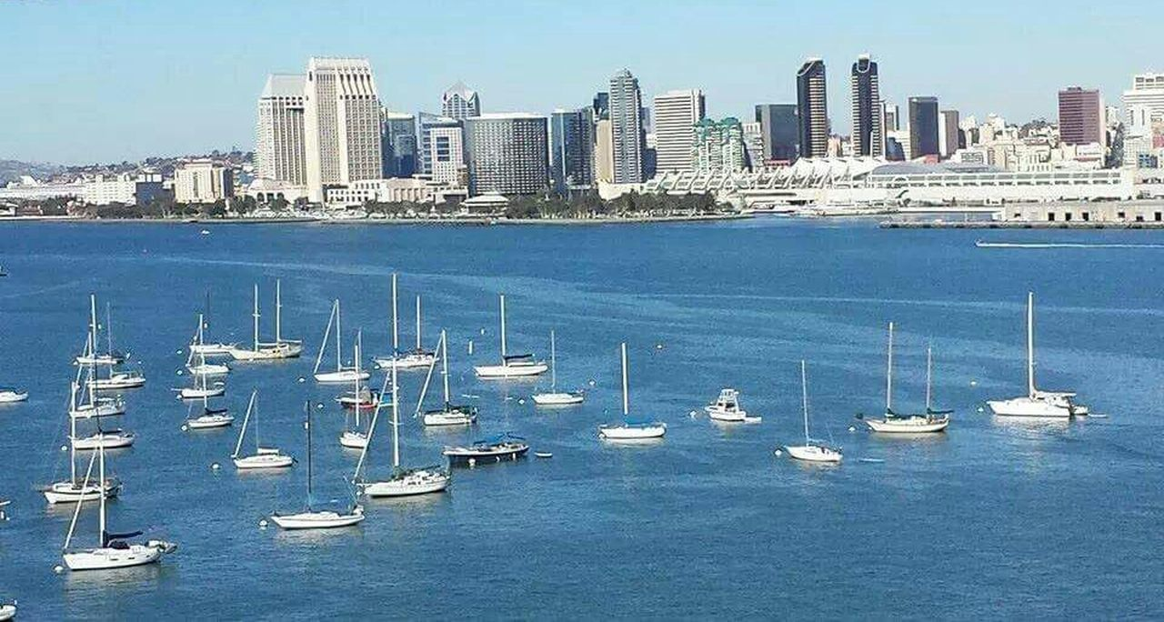 California Boats Boat Sky Scraper Ocean Blue Sky Water