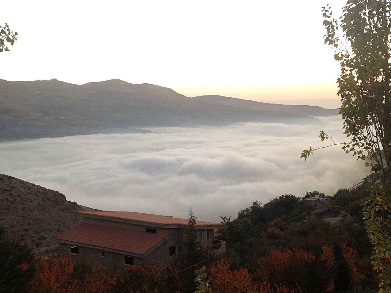 Above The Clouds Mountains And Valleys Lebanon East Mediterranean