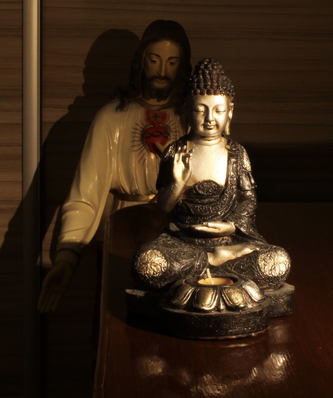statue, religion, spirituality, sculpture, human representation, male likeness, indoors, idol, place of worship, no people