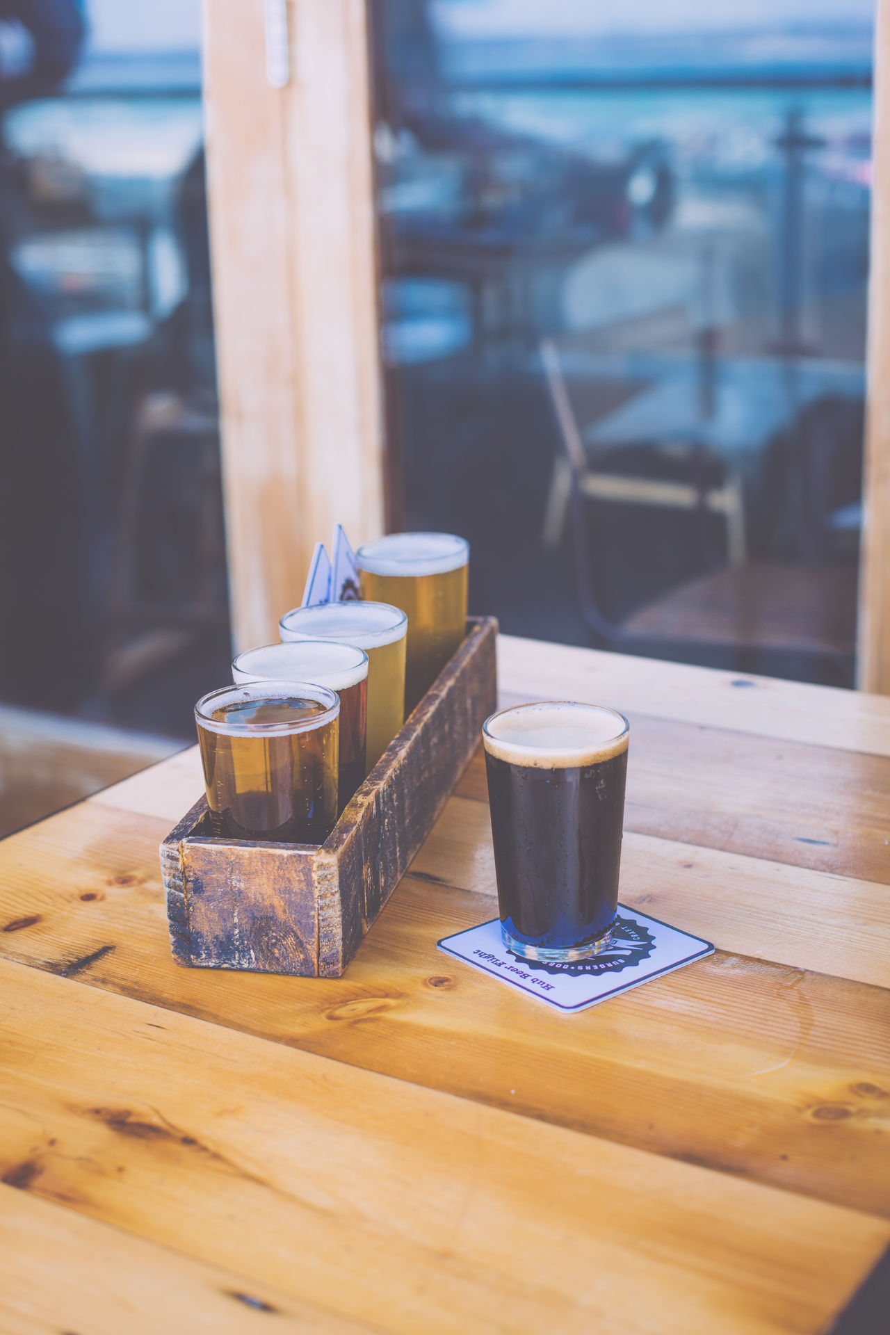Alcohol Ale Beer Beer Flight Beer Flights Beer Tasting  Beer Time Beers Coffee - Drink Coffee Cup Drink Drinks Focus On Foreground Food And Drink Freshness Glass IPA No People Refreshment Still Life Stout Table