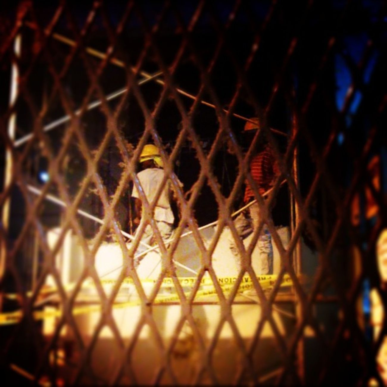 Nofilter Iphomegraphy Juatlight Workers fence work workers tiltshift