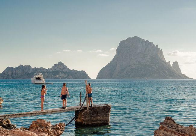 Eivissa Ibiza Kids Mediterranean Sea Sea Stones Sunbathing Sweeming Yacht