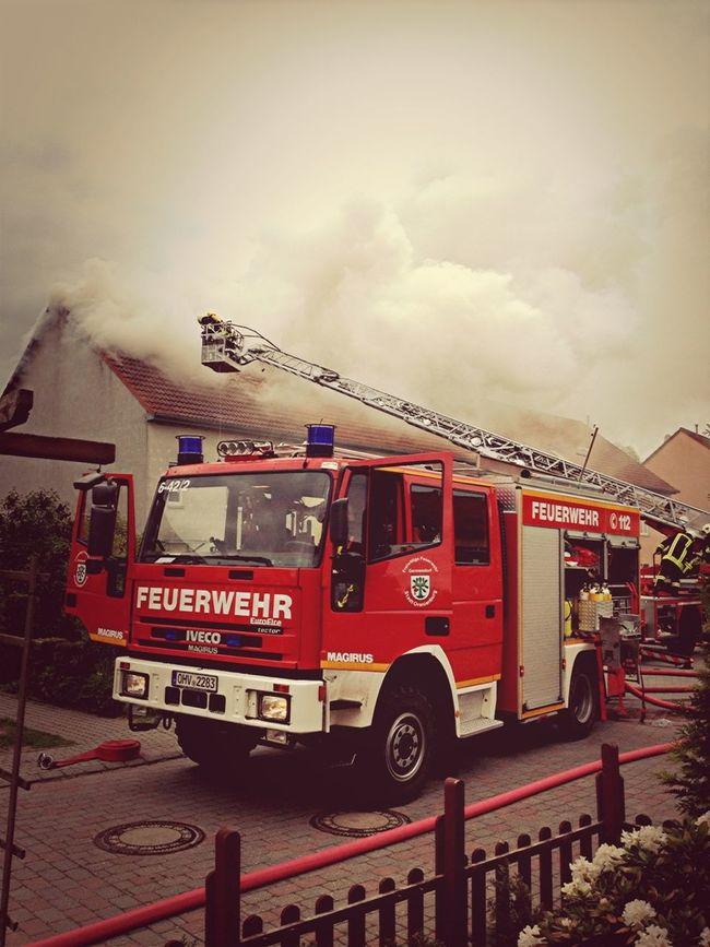 Einsatz Dachstuhlbrand Mai 2012