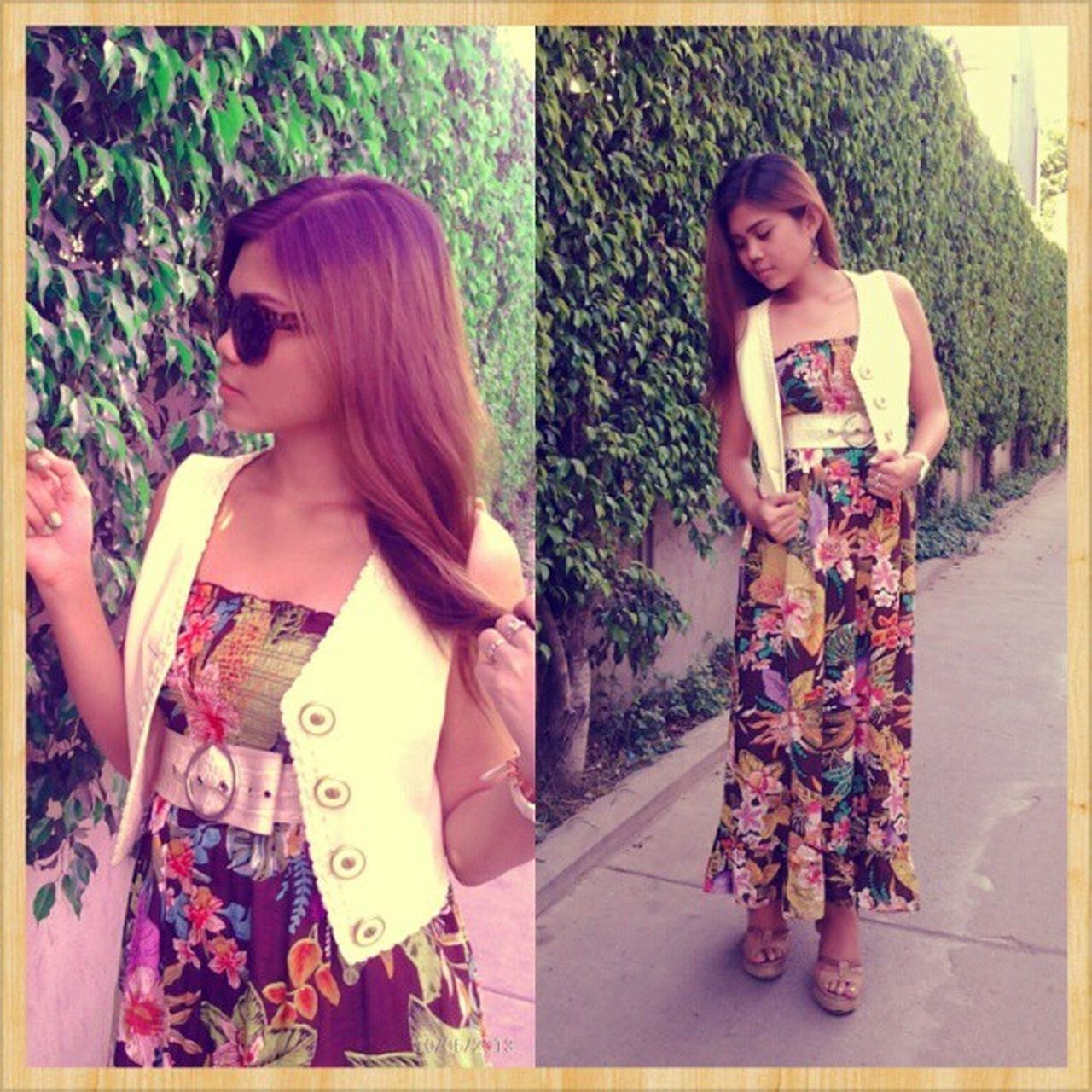 Floral maxi dress. Thanks Ruby Ann for the dress. And @haroldjason for the shots. ;) Igers IGDaily Ootd Igcapture Igshot Fashionwear Fashionable Loveit Instagram Instawear Followme !!! :-*