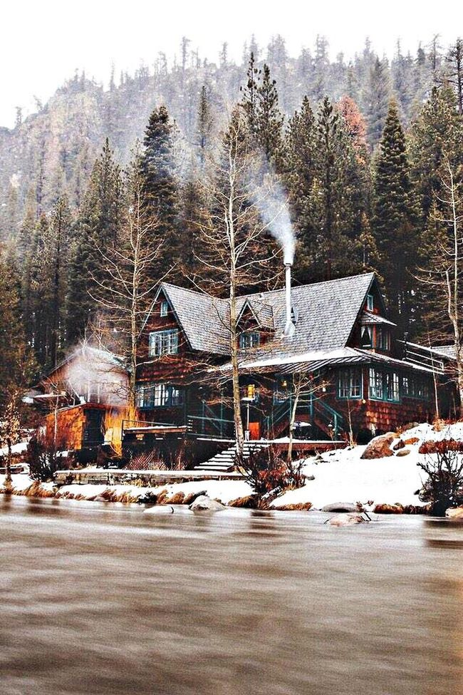 dream house. Architecture Mountains Cottage My Dream House