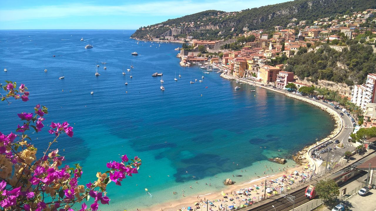Beach Beauty In Nature Blue Côte D'Azur Holidays Nofilter Non-urban Scene Purecolor Sea Summer Travel Destinations Travelers Villafranca Beautyinnature  Panoramic Photography BYOPaper!