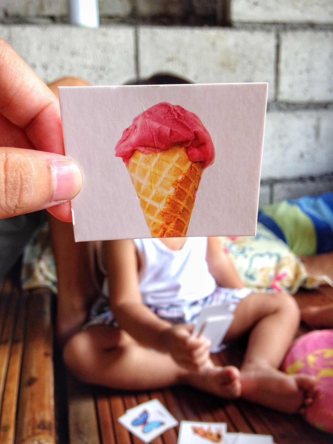 Thursday morning.. // Play Eyeem Philippines Kid Baby Sitting Ice Cream Mobilephotography