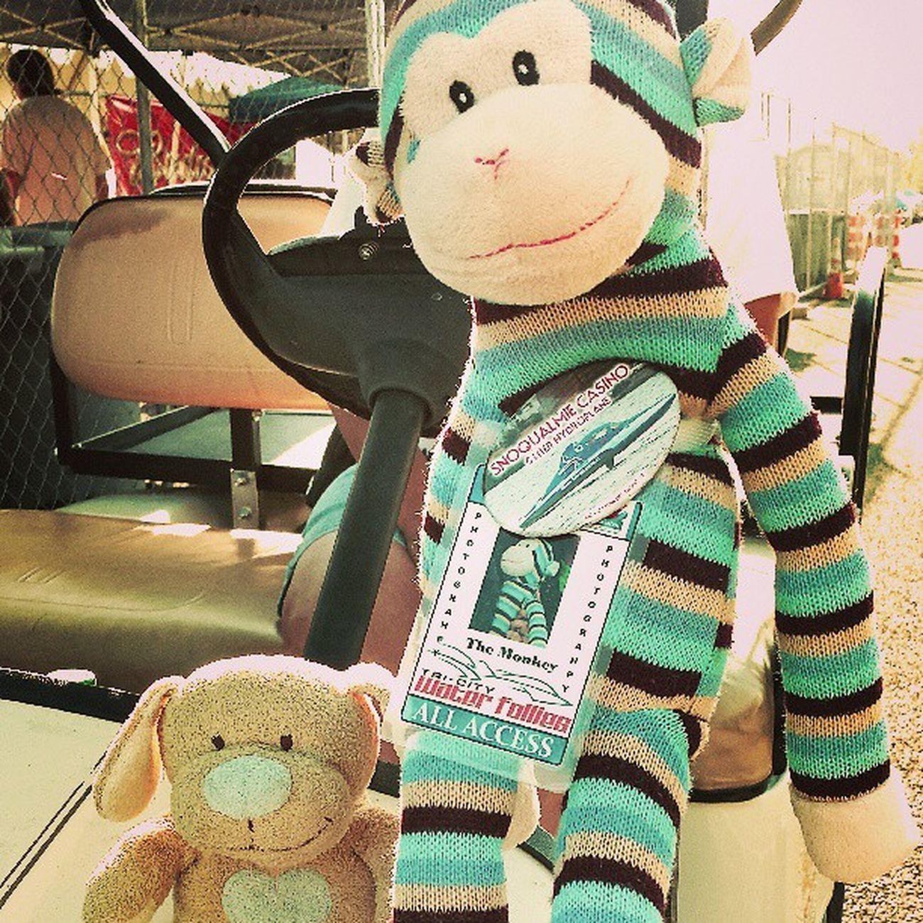 Freelance Puppy found a friend Hydro Monkey Hydroplane Races 2013