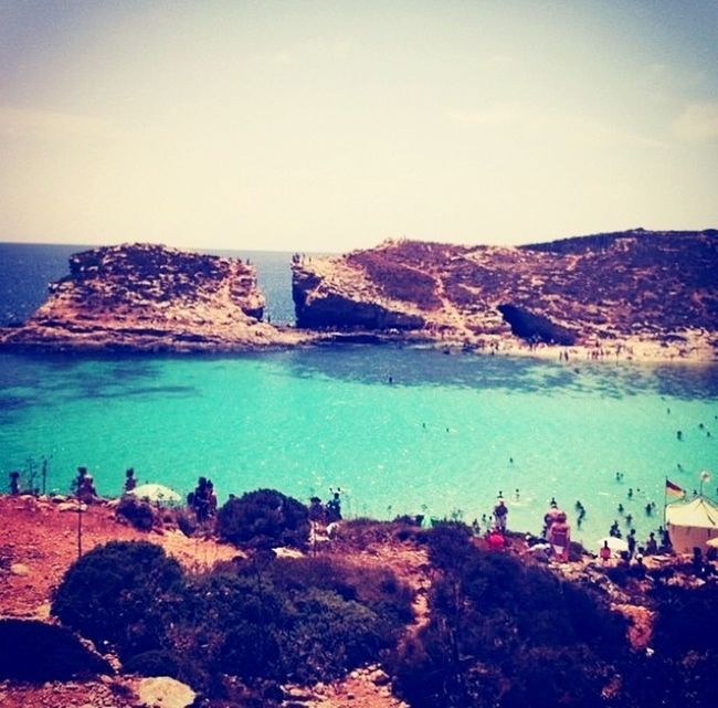 Wonderful place. Hope to come back one day. The Blue Lagoon, Comino Postal Card View Remember Holidays