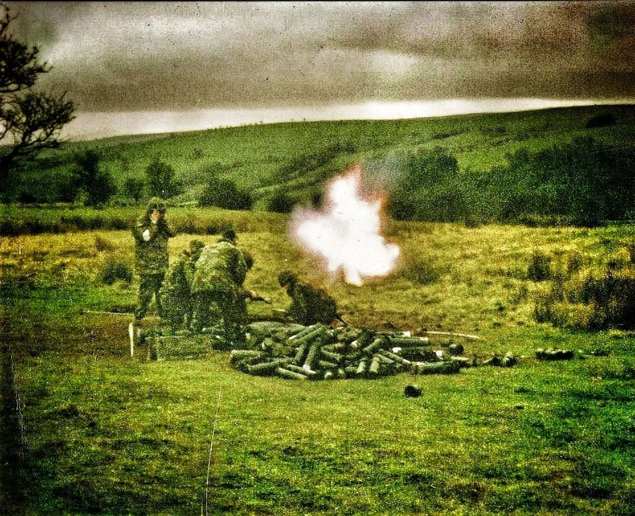 Me firing 81mm mortars in Wales. Mortar Platoon, Z Company, 2nd Battalion the Princess of Wales's Royal Regiment. Mortar Fire Incoming Tigers PWRR