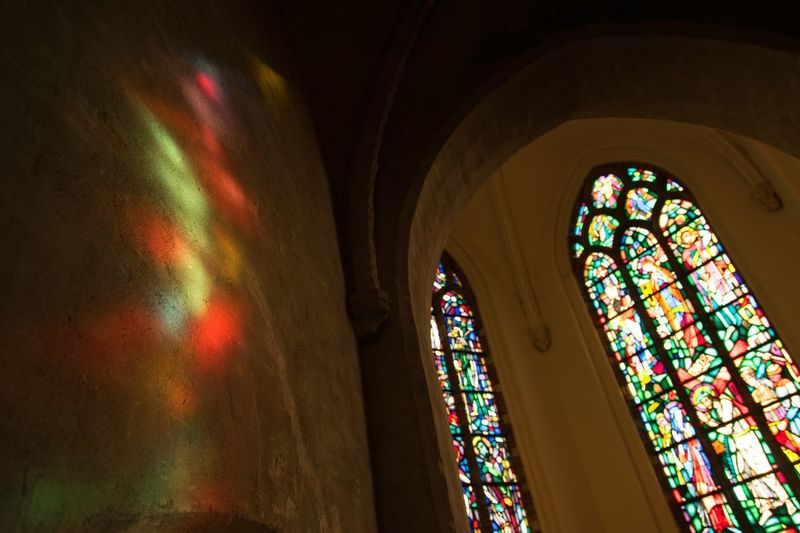 Window Multi Colored Place Of Worship Glass In Lead Church Wouw